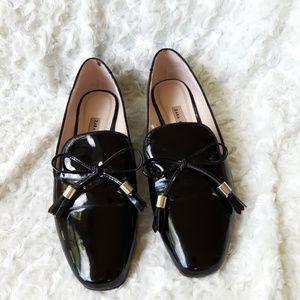 Zara Black patent leather flats
